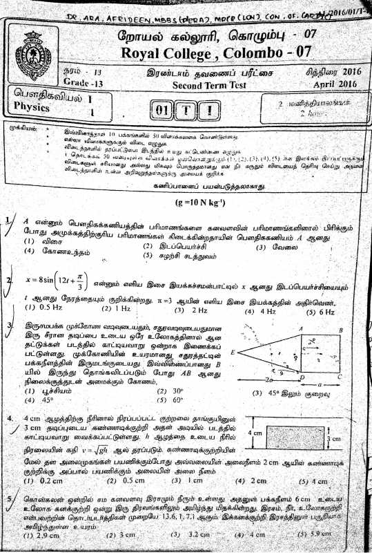 Institute history - For physics